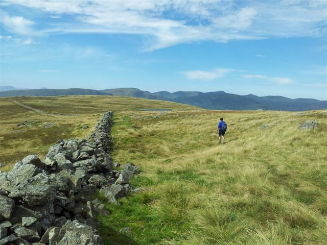 Walking out to Caudle Moor from Stony Cove Pike