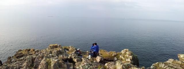 Whale Watching, Rhubha Hunish, Isle of Skye 28.9.13