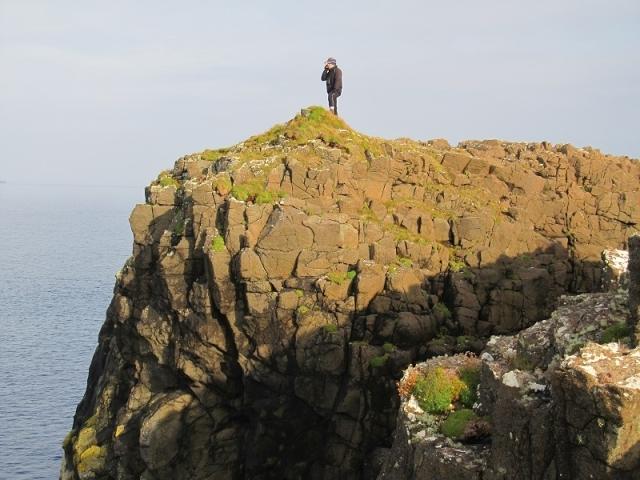 Rhubha Hunish, Isle of Skye talking to my Dad 4.20pm 28th Sept