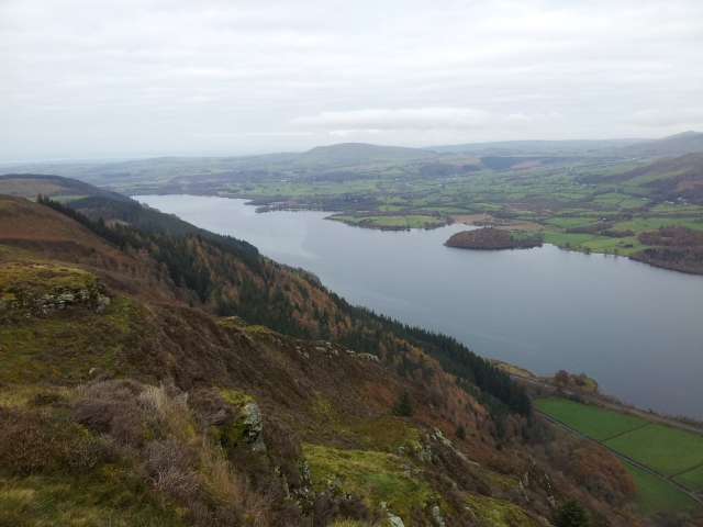 Best views of the day on Barf, north over Bassenthwaite