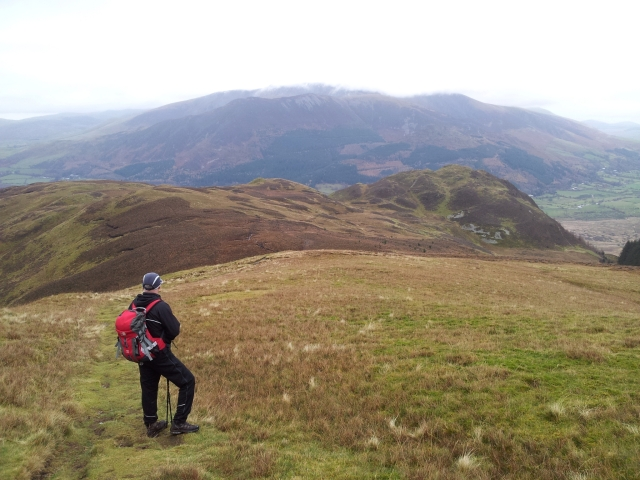Looking back from the sloped of Lords Seat
