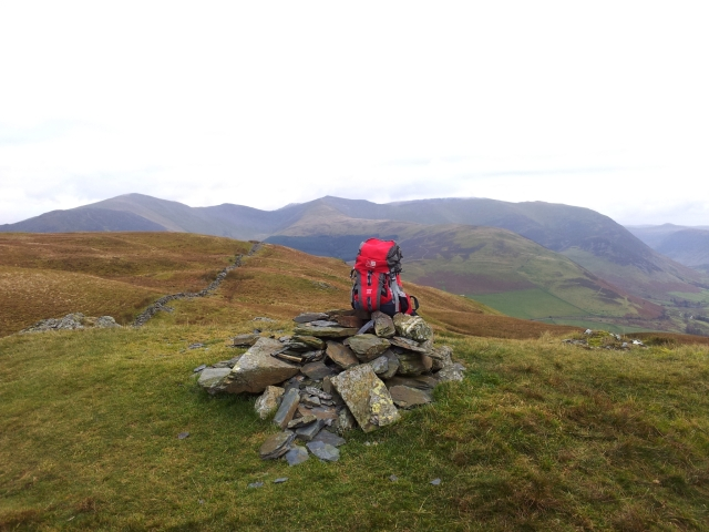 My sack with Grisedale Pike & Hopegill Head