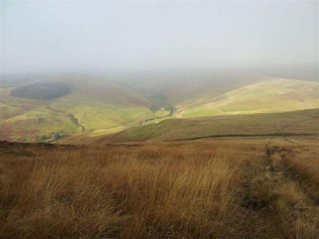 Nice views descending Shillhope