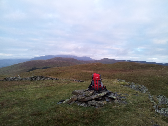 Perfect sack placement on Greystones, to Broom Fell, Lord's Seat & Skiddaw