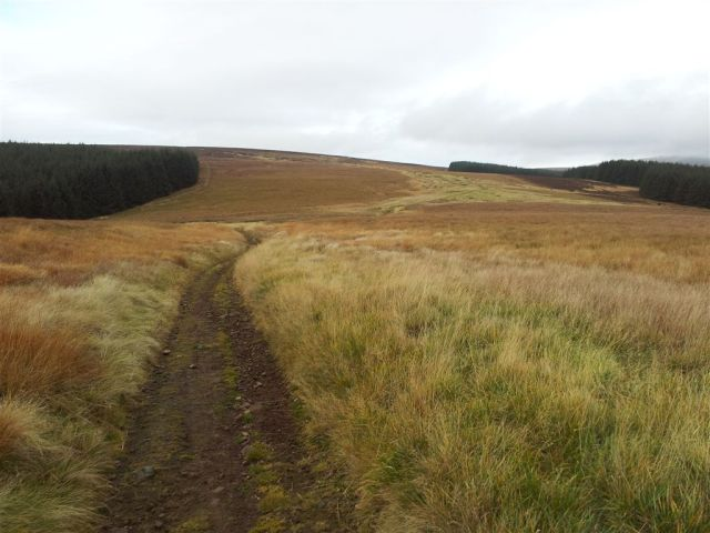 The path ahead up to the Border Ridge
