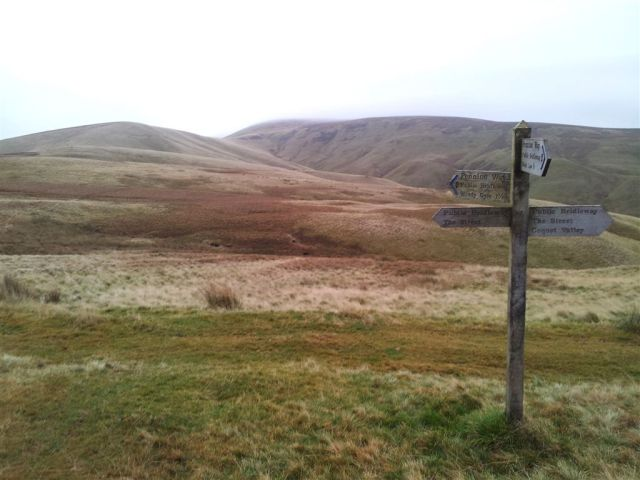 Windy Gyle from where the Pennine Way meets the Street route