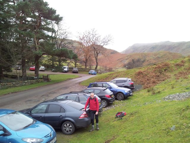 Parking outside St Peters Church, Martindale