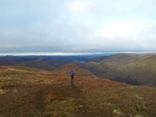 Alan leaving Rest Dodd northwards with The Nab ahead