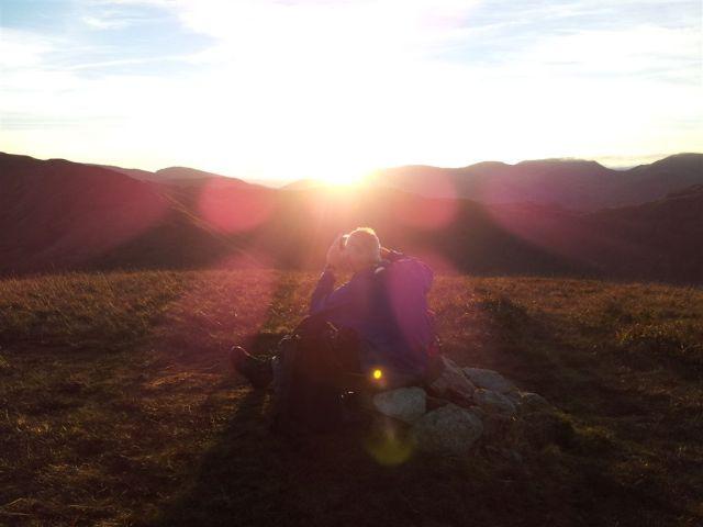 Watching the setting sun