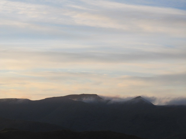 Helvellyn & Catseye Cam with cloud clearing