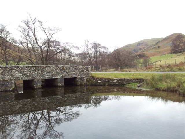 Bridge over the Howe Grain  with Beda Fell beyond