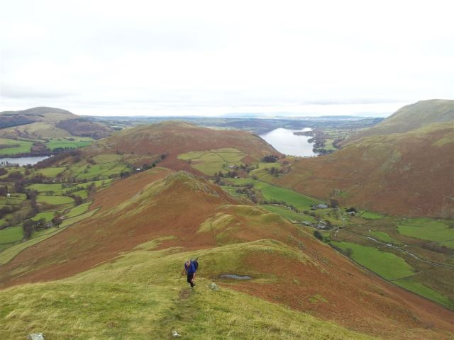 Looking back from further up Beda Fell