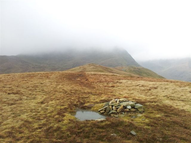 The innocuous cairn on Birks with St Sunday Crag