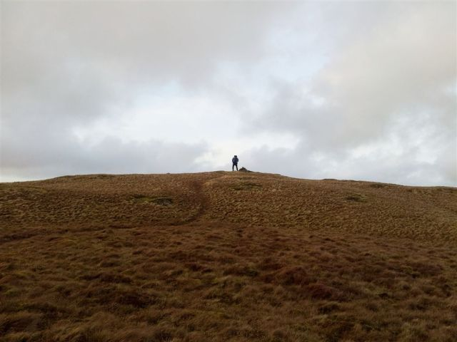 Alan experiencing extreme wind on Hen Comb - and not due to the curry