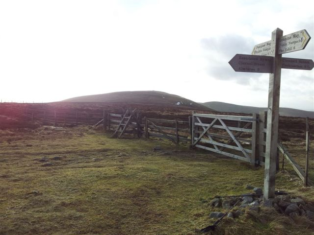 Border Gate looking to the next stage up to Windy Gyle