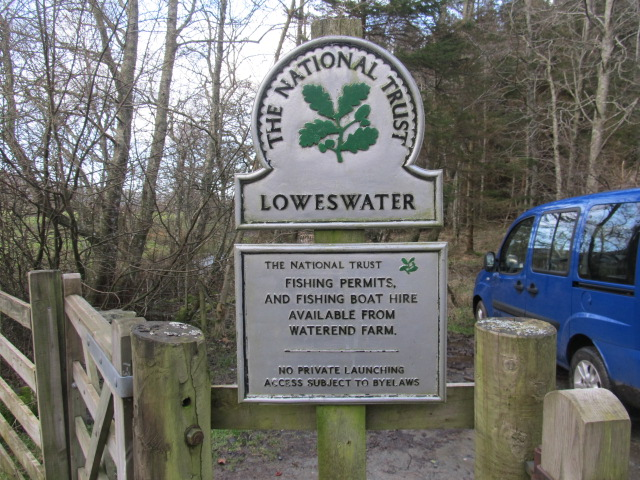 The Loweswater car park at Maggie's Bridge