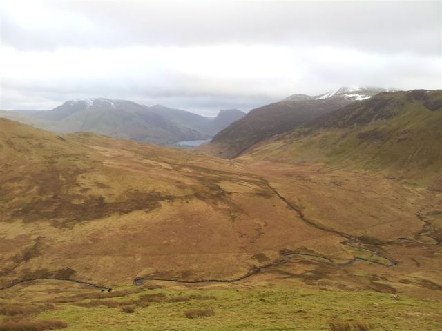 Looking back down & across Mosedale to Buttermere