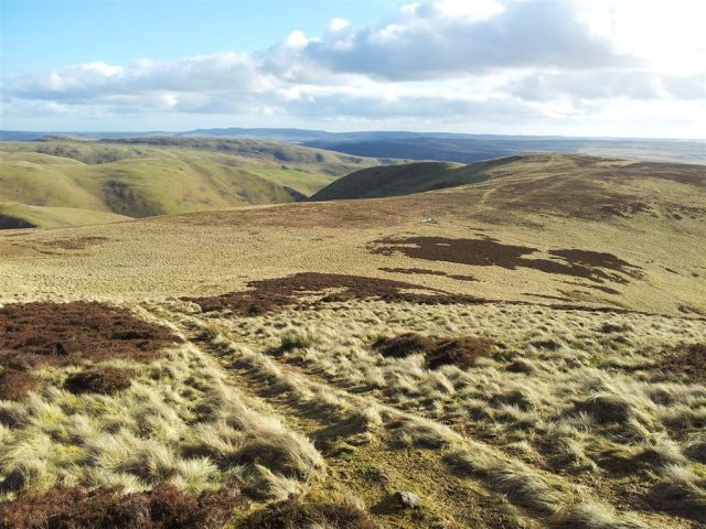 Looking back towards Inner Hill