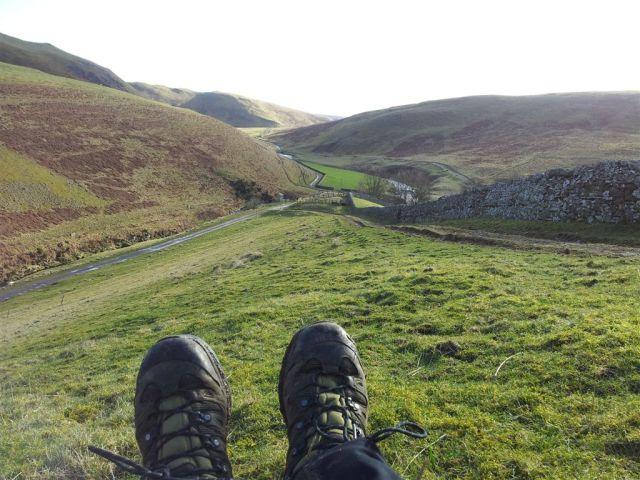 Looking down at Shillmoor