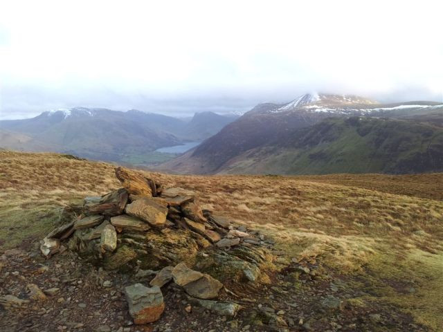 Robinson, Buttermere, Fleetwith & High Stile range from Hen Comb summit