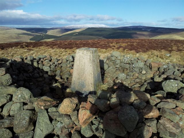 Shillhope Law summit cairn again