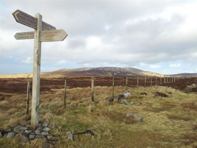 The Border Gate on the Pennine Way looking to The Cheviot