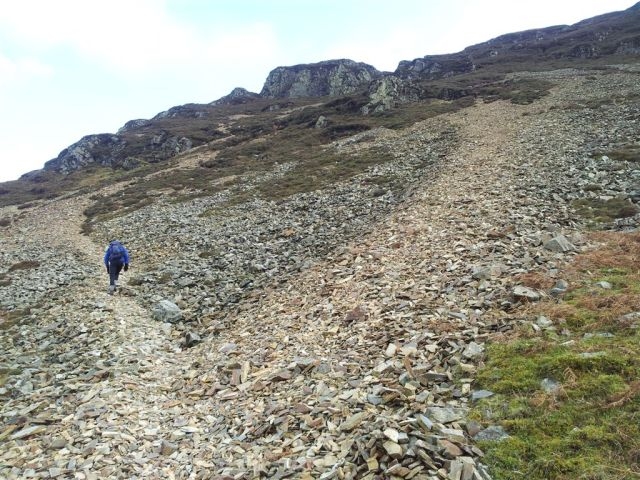 The steep scree bit