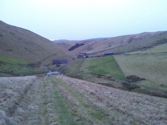 The two farm buildings at Trows ten mins before the car park