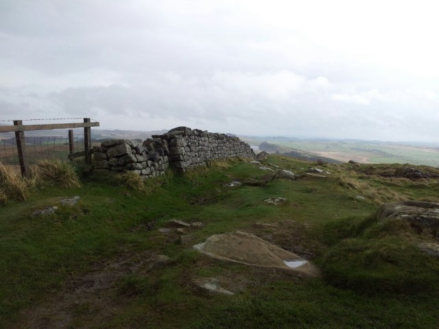 View sheltering behind trig