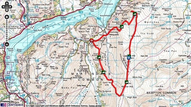Bonscale & Arthurs Pike, Loadpot Hill, Wether Hill & Pikewassa Route