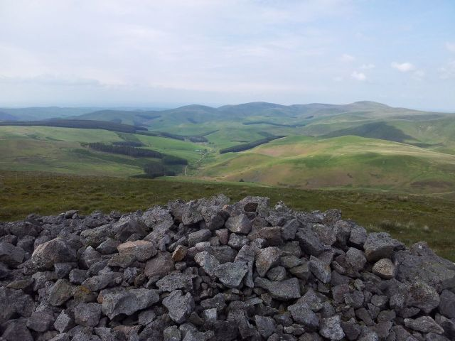 Windy Gyle from Wedder Leap, Coquet Valley, Cheviots_24