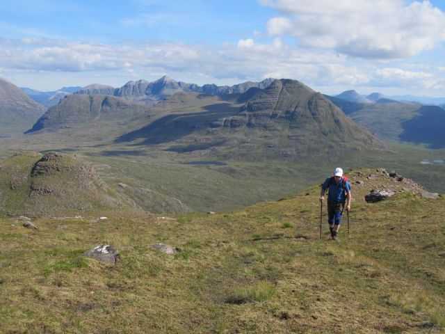 Ascending Baosbheinn with Torridon behind