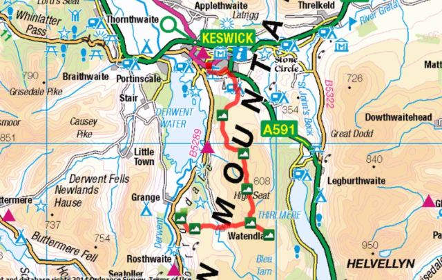 Kings How to Walla Crag Route
