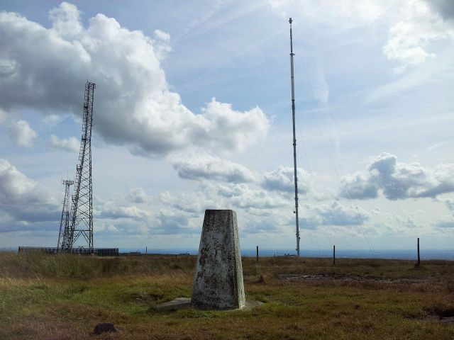 Trig Pillar looking back south east