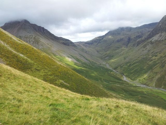 Gable, Kirk Fell & Wasdale Head from Seathwaite_12