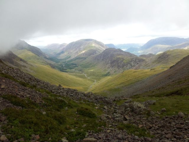 Gable, Kirk Fell & Wasdale Head from Seathwaite_25