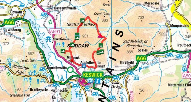 Tour of Skiddaw Route
