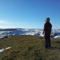 A wintry weekend walk up Windy Gyle from Wedder Leap - (Cheviots 9 miles)