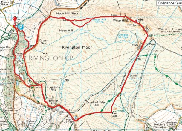 Winter Hill and Rivington Pike twice route 2