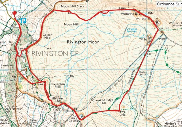 Winter Hill and Rivington Pike twice route 3