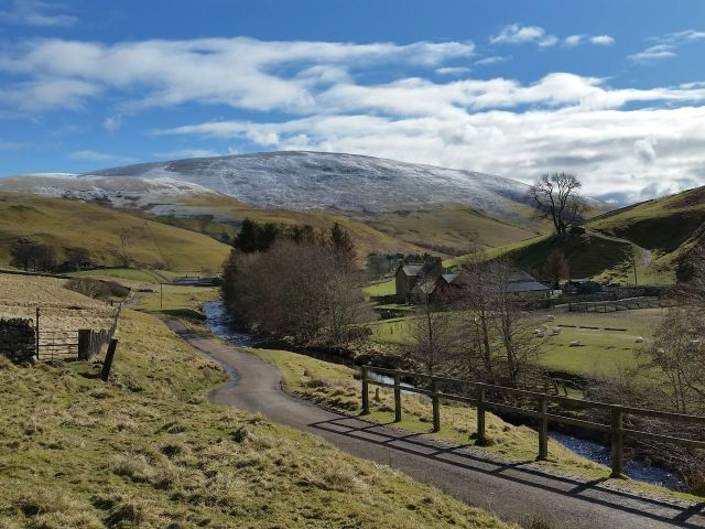 Wintry Windy Gyle walk March 2016