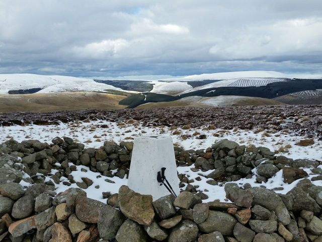 Wintry Windy Gyle walk March 2016_1