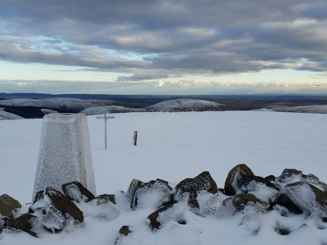 Wintry Windy Gyle walk March 2016_13