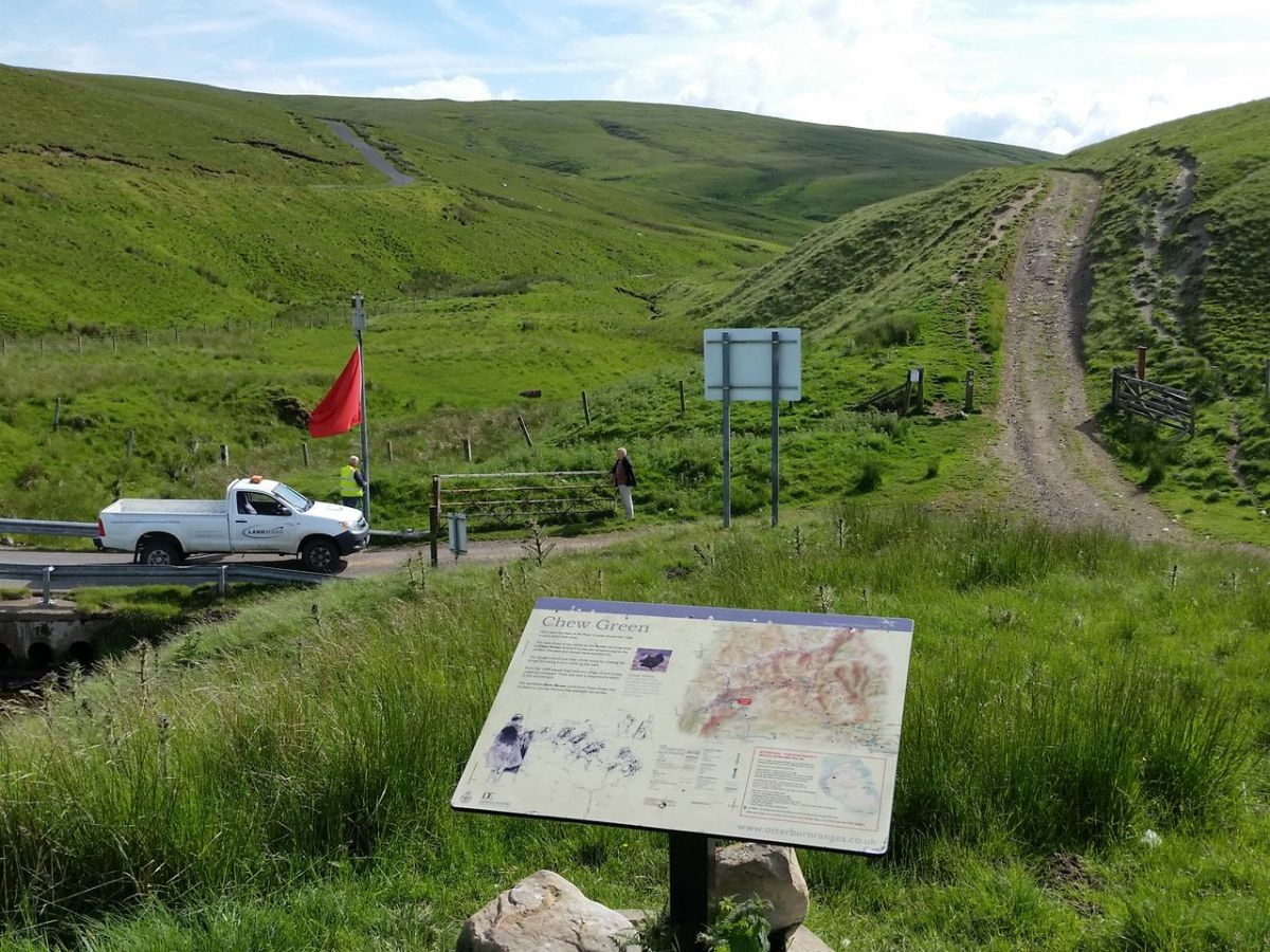 How to access the Coquet Valley and Cheviot Hills by car through Otterburn Military Ranges, via Dere Street